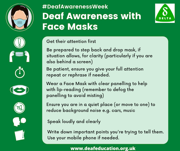 Deaf Awareness with Face Masks